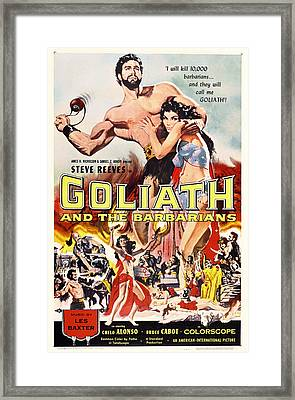 Goliath And The Barbarians 1959 Framed Print