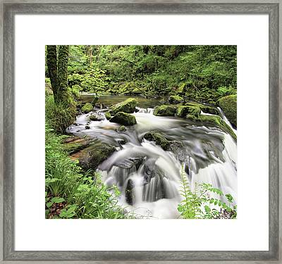 Golitha Falls Framed Print by Pete Hemington
