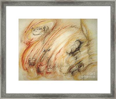 Gollum Is Watching Framed Print by Stephanie  H Johnson
