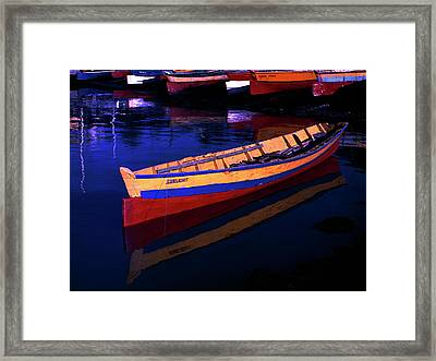 Gomier Canoe-st Lucia Framed Print by Chester Williams