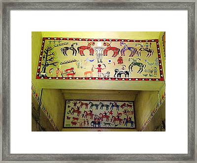 Gond Tribal Art Framed Print by Rajendra Yadav