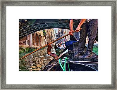 Framed Print featuring the photograph Gondola 2 by Allen Beatty