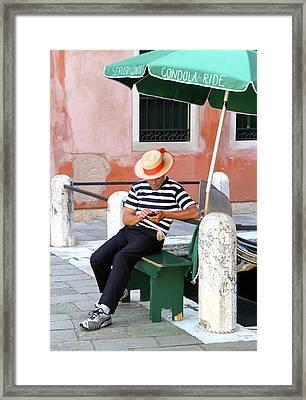 Gondola For Hire Framed Print