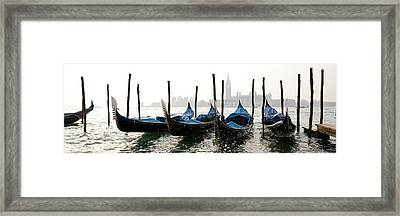 Gondole In Bacino 2078 Framed Print