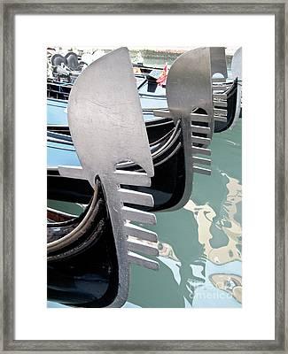 Gondola In Line Framed Print by Heiko Koehrer-Wagner