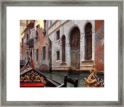 Gondola Framed Print by Julie Geiss