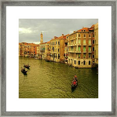 Framed Print featuring the photograph Gondola Life by Anne Kotan