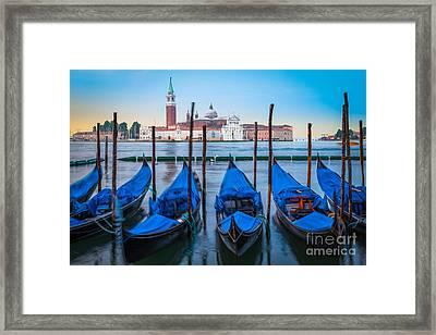 Gondola Mattina Framed Print by Inge Johnsson