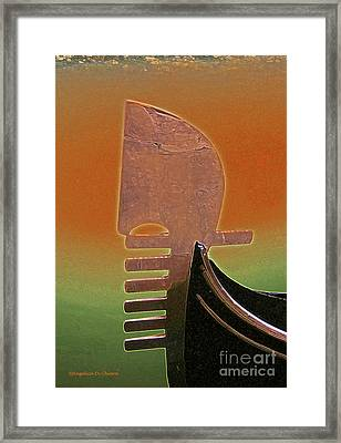 Gondola Modern Abstract Framed Print