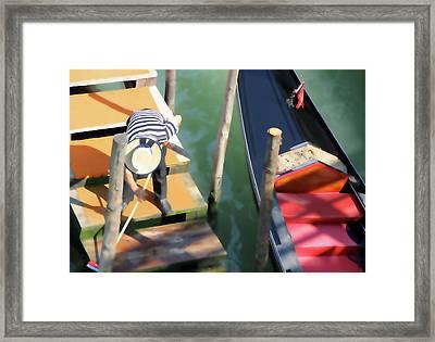 Gondola Morning Chores Framed Print
