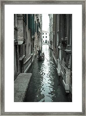 Gondola On Venice Canal Framed Print