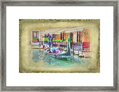 Gondola Paint Framed Print
