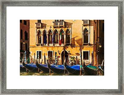 Gondola Parking Only Framed Print