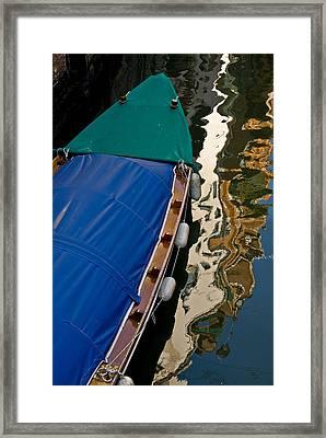 Gondola Reflection Framed Print