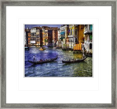 Gondola Ride Framed Print by Michael Rankin