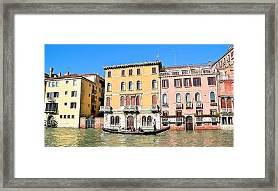 Gondola Ride On A Sunny Day Framed Print by Frozen in Time Fine Art Photography
