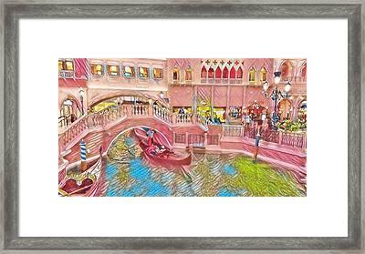 Gondola Rides At The Venetian Framed Print