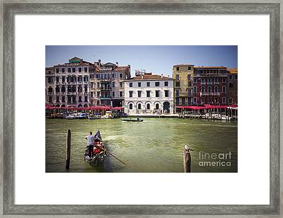 Gondola Sailor Framed Print by Svetlana Sewell