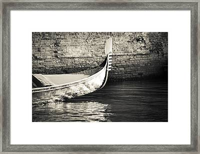 Gondola Wall Framed Print