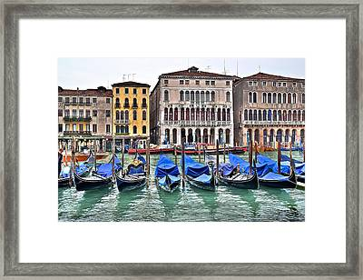 Gondolas Galore Framed Print by Frozen in Time Fine Art Photography
