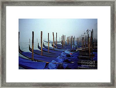 Gondolas In Venice In The Morning Framed Print by Michael Henderson