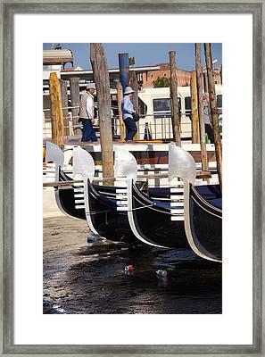 Gondolas  Framed Print by Ron Koivisto