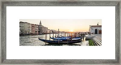 Gondolas Sunrise 00323 Framed Print