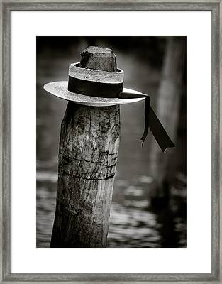Gondolier Hat Framed Print by Dave Bowman