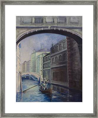 Gondoliers Framed Print by Victoria  Shea