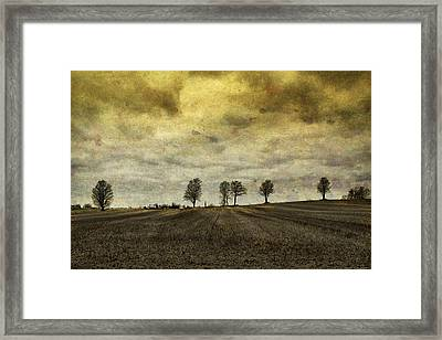Framed Print featuring the photograph Gone Are Our Days Of Happiness.... by Russell Styles