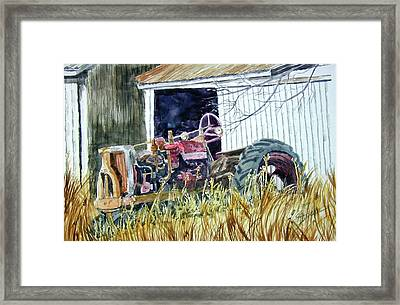 Framed Print featuring the painting Gone But Not Forgotten by Ron Stephens