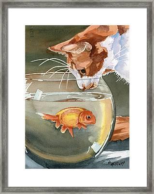 Gone Fishin Framed Print by Marsha Elliott