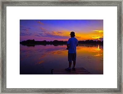 Gone Fishin Framed Print