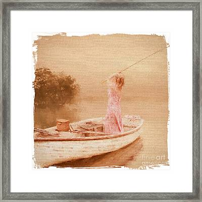 Gone Fishin' Framed Print by ShabbyChic fine art Photography