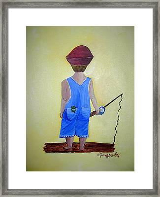 Gone Fishing 2 Framed Print by Sharon Supplee