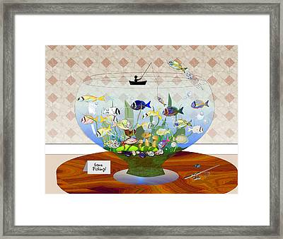 Gone Fishing Framed Print by Arline Wagner