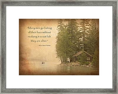 Gone Fishing... Framed Print