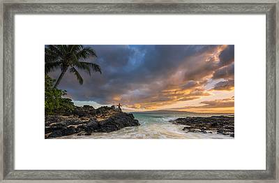 Framed Print featuring the photograph Gone Fishing by Hawaii  Fine Art Photography