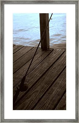 Framed Print featuring the photograph Gone Fishing by Karen Musick