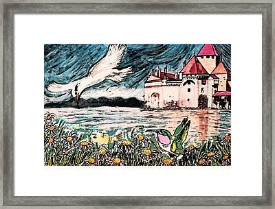 Gone Fishing Framed Print by Monica Engeler