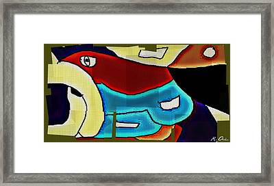 Gone Fishing Framed Print by Rene Avalos