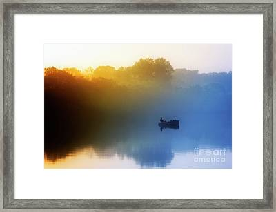 Framed Print featuring the photograph Gone Fishing by Scott Kemper