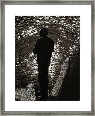 Gone Fishing - Sepia Framed Print by Steve Harrington