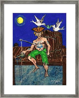 Gone Fishing Framed Print by William Depaula
