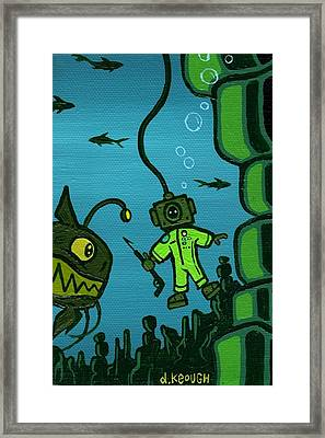 Gone Fish'n Framed Print by Dan Keough