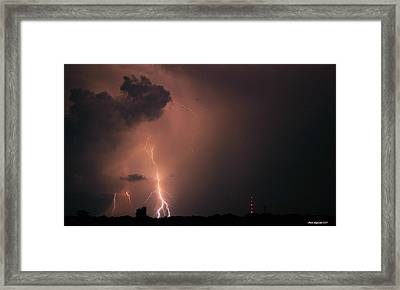 Gone In A Flash Framed Print