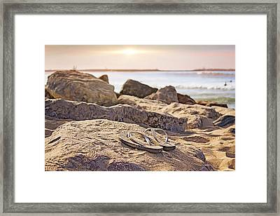 Gone Surfin' Framed Print