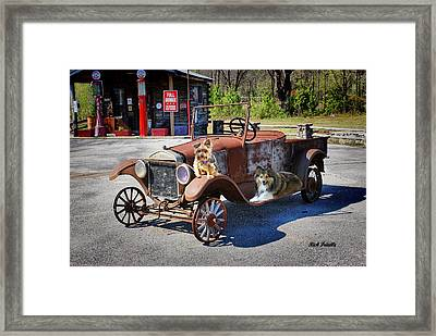 Framed Print featuring the photograph Gone To The Dogs by Rick Friedle
