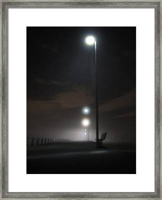 Framed Print featuring the photograph Gone To The Mist by Digital Art Cafe