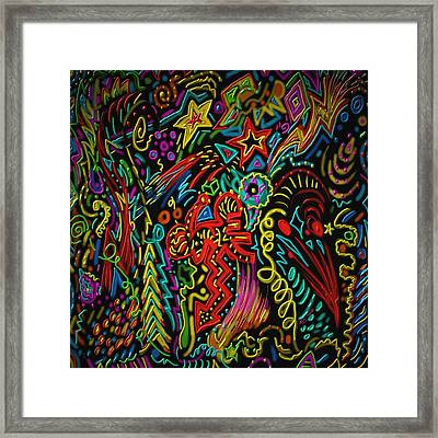 Framed Print featuring the painting Gone Wild by Kevin Caudill